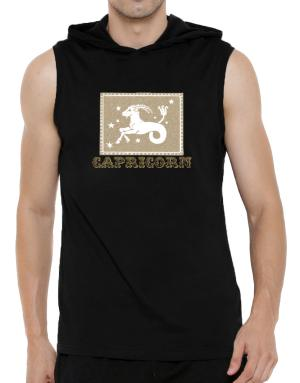 Capricorn Hooded Sleeveless T-Shirt - Mens