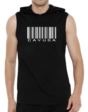 Cayuga Barcode Hooded Sleeveless T-Shirt - Mens