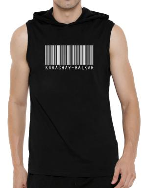Karachay Balkar Barcode Hooded Sleeveless T-Shirt - Mens