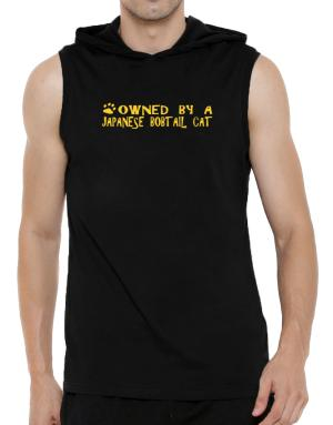 Owned By A Japanese Bobtail Hooded Sleeveless T-Shirt - Mens