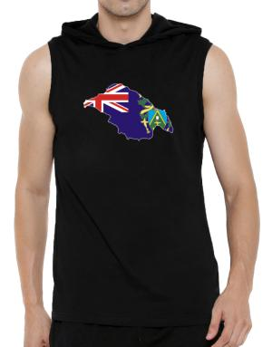 Pitcairn Islands - Country Map Color Simple Hooded Sleeveless T-Shirt - Mens