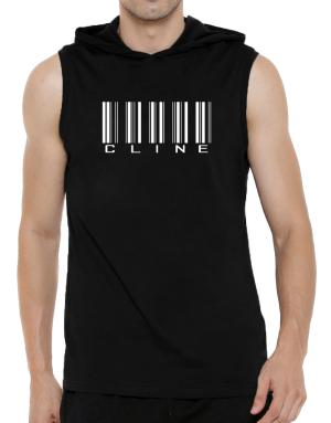 Cline - Barcode Hooded Sleeveless T-Shirt - Mens