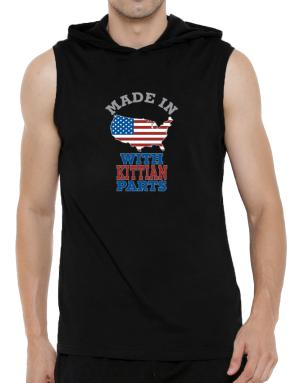 Made In Usa With Kittian Parts Hooded Sleeveless T-Shirt - Mens