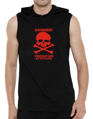 Danger Vincentian Titude Hooded Sleeveless T-Shirt - Mens