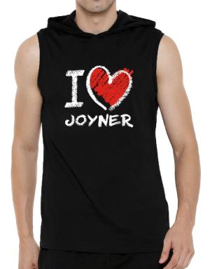 I love Joyner chalk style Hooded Sleeveless T-Shirt - Mens