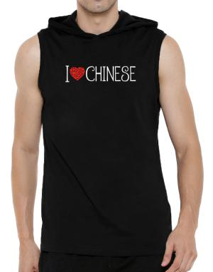 I love Chinese cool style Hooded Sleeveless T-Shirt - Mens