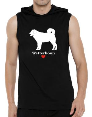 Wetterhoun love Hooded Sleeveless T-Shirt - Mens