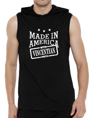 Made in America with Vincentian parts Hooded Sleeveless T-Shirt - Mens