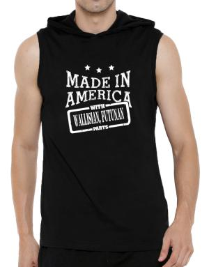 Made in America with Wallisian, Futunan parts Hooded Sleeveless T-Shirt - Mens