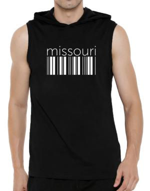 Missouri barcode Hooded Sleeveless T-Shirt - Mens