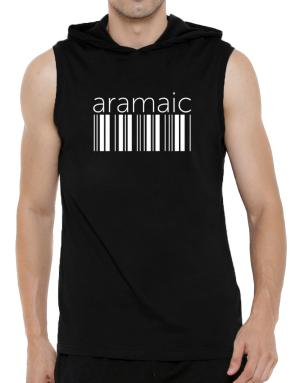Aramaic barcode Hooded Sleeveless T-Shirt - Mens