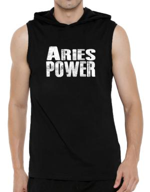Aries power Hooded Sleeveless T-Shirt - Mens