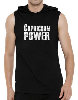 Capricorn power Hooded Sleeveless T-Shirt - Mens