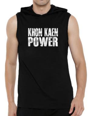 Khon Kaen power Hooded Sleeveless T-Shirt - Mens