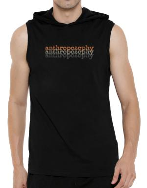Anthroposophy repeat retro Hooded Sleeveless T-Shirt - Mens