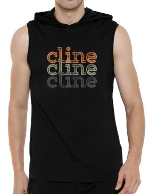 Cline repeat retro Hooded Sleeveless T-Shirt - Mens
