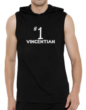 Number 1 Vincentian Hooded Sleeveless T-Shirt - Mens