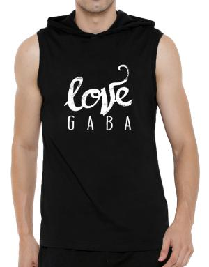 Love Gaba 2 Hooded Sleeveless T-Shirt - Mens