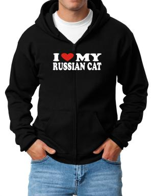 I Love My Russian Zip Hoodie - Mens
