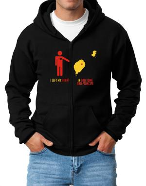I Left My Heart In Sao Tome And Principe - Map Zip Hoodie - Mens