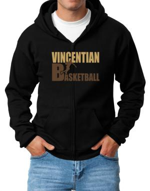 Vincentian Basketball Zip Hoodie - Mens