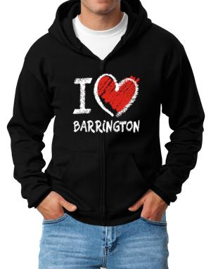 I love Barrington chalk style Zip Hoodie - Mens