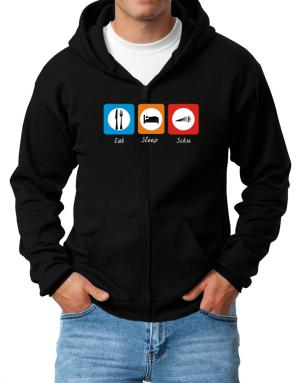 Eat sleep Siku Zip Hoodie - Mens