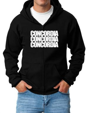 Concordia three words Zip Hoodie - Mens