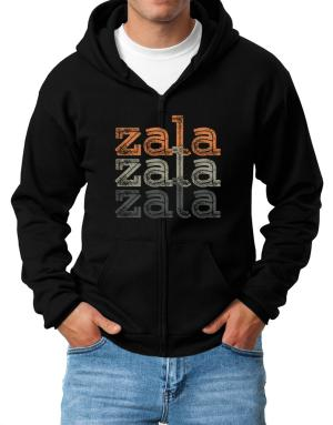 Zala repeat retro Zip Hoodie - Mens