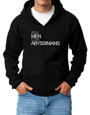 Real men love Abyssinians Zip Hoodie - Mens