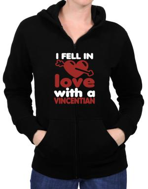 I Fell In Love With A Vincentian Zip Hoodie - Womens