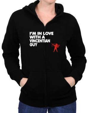 I Am In Love With A Vincentian Guy Zip Hoodie - Womens