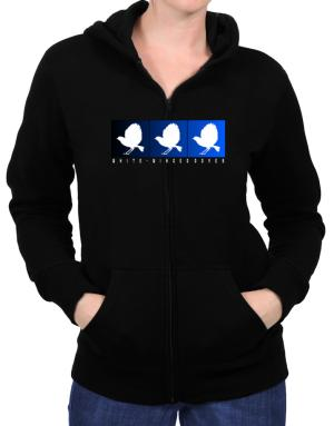 White-Winged Doves boxes Zip Hoodie - Womens