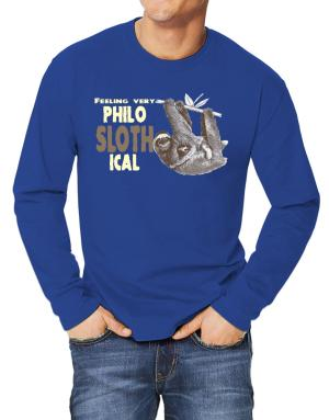 Philosophical Sloth Long-sleeve T-Shirt