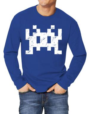 Polo Manga Larga de Space invaders retro