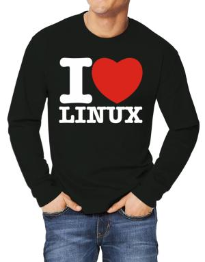 Polo Manga Larga de I Love Linux