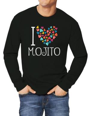 I love Mojito colorful hearts Long-sleeve T-Shirt
