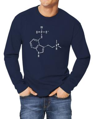 Polo Manga Larga de Psilocybin Chemical Formula