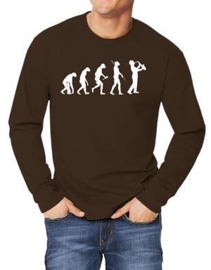 Playeras Manga Larga de Saxophone Player Evolution