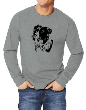 Border Collie Face Special Graphic Long-sleeve T-Shirt