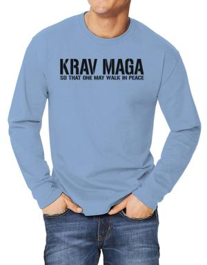 Krav Maga Walk in peace Long-sleeve T-Shirt