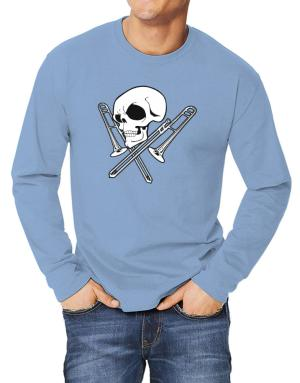Playeras Manga Larga de Skull and Trombone