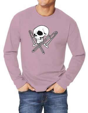 Skull and Trombone Long-sleeve T-Shirt
