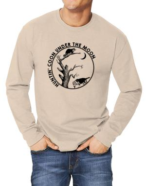 Huntin coon under the moon Long-sleeve T-Shirt
