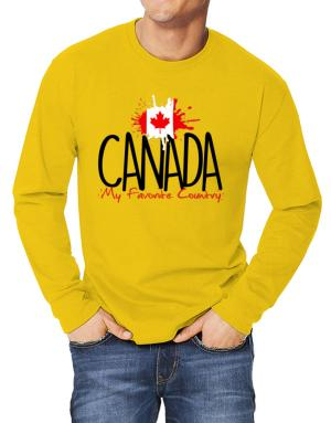 Canada my favorite country Long-sleeve T-Shirt