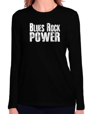 Blues Rock power Long Sleeve T-Shirt-Womens
