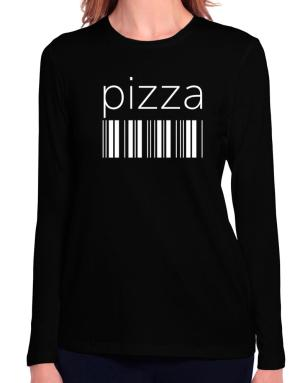 Pizza barcode Long Sleeve T-Shirt-Womens