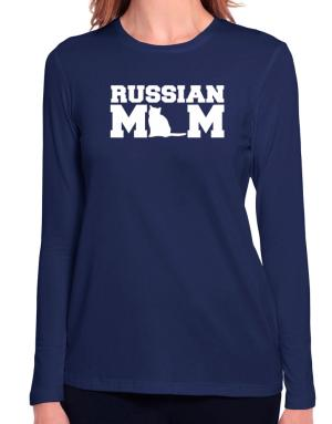 Russian mom Long Sleeve T-Shirt-Womens