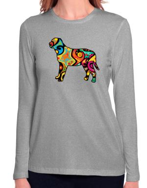 Psychedelic Broholmer Long Sleeve T-Shirt-Womens