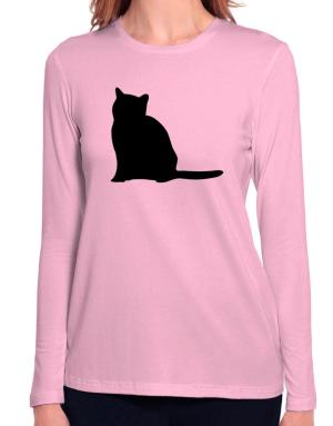 Russian silhouette Long Sleeve T-Shirt-Womens